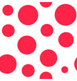 red circle abstract seamless pattern sketch vector image vector image