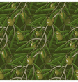 Seamless Olive Branches Pattern vector image vector image