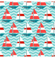 seamless pattern with sailboats on the waves vector image vector image