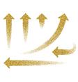 set gold arrow vector image vector image