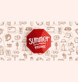 summer travel vintage style concept composition vector image vector image