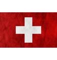 Swiss grunge flag background vector image vector image