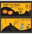 ticket for halloween-party two-sided with a tear vector image vector image