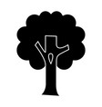 tree big icon black sign on vector image