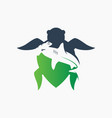 turtle and hammerhead shark logo vector image