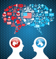 USA political elections social discussion vector image vector image