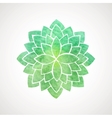 Watercolor lotus flower green color vector image vector image