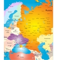 West europe map vector image