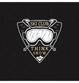 Winter Ski club label design Sports shield badge vector image vector image