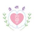 world mental health day phrase in heart brain vector image vector image