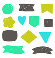 hand drawn grunge shapes vector image