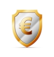 shield with euro sign vector image