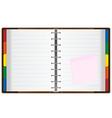 notebook organizer vector image
