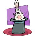 rabbit in hat cartoon vector image