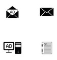 advertisement icon set vector image vector image