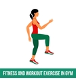 Aerobic icons full color 32 vector image vector image