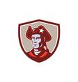 american patriot minuteman head crest retro vector image vector image