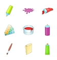 Art and craft symbol icons set cartoon style vector image vector image