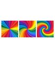 backgrounds set vivid rainbow colored swirl vector image