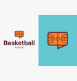 basketball-court-logo-icon vector image