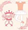 beautiful ballerina ballet classic tutu vector image vector image