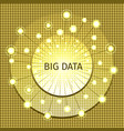 big data on a gold mosaic backgroun vector image