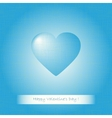 Blue heart Valentines vector image vector image