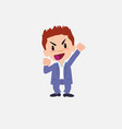 businessman in smart casual style cheering vector image