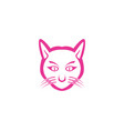 cat cute pet animal set vector image