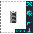 cent icon icon flat vector image