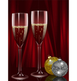 champagne flutes vector image vector image