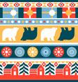 christmas traditional folk retro seamless pattern vector image vector image