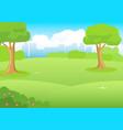 city park cartoon vector image vector image