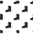 Combat boot icon in black style isolated on white vector image vector image