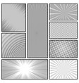 comic book monochrome background vector image