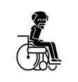 elder man in wheelchair icon vector image vector image