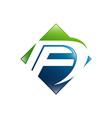fd f d letter logo design creative modern letters vector image vector image