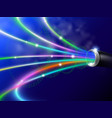 fiber optic digital technology vector image vector image