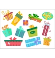 Flat design gifts boxes set Gift box vector image vector image