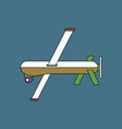 flat icon design collection military drone vector image vector image