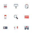 flat icons advertising letter building and other vector image vector image