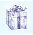 gift box hand drawn llustration sketch vector image vector image