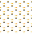 golden cup pattern vector image vector image