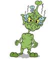 Green Extraterrestrial vector image