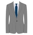 Grey businessman suit vector image