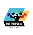 gym logo design template fitness vector image vector image