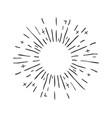 hand drawn decorative starburst shining star vector image