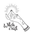 hand drawn witch with snapping finger gesture vector image vector image