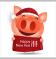 happy chinese new year 2019 pig cartoon isolated vector image vector image