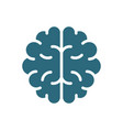 human brain colored icon healthy internal organ vector image